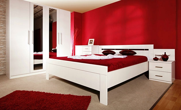 Velká fotografie ložnice, postele - Aspena