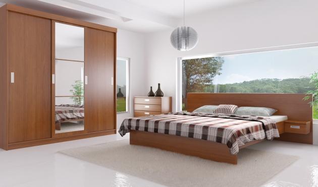 Velká fotografie ložnice, postele - Eden 1