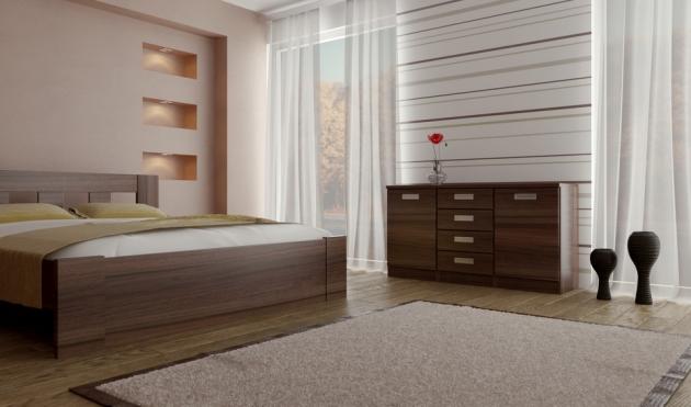 Velká fotografie ložnice, postele - Eden 3