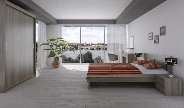 Velká fotografie ložnice, postele - Eden 4
