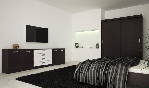 Velká fotografie ložnice, postele - Eden 7