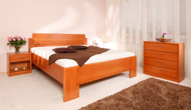 Velká fotografie ložnice, postele - Deluxe