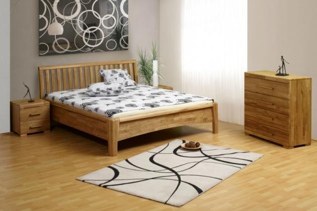 Velká fotografie ložnice, postele - Carolina - divoký dub