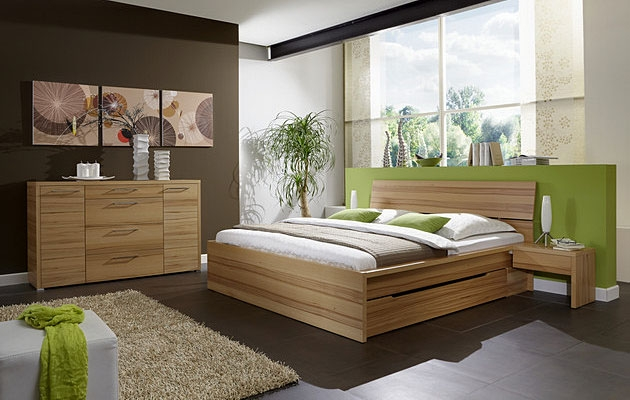 Velká fotografie ložnice, postele - Erin