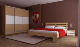 Menší fotografie ložnice, postele - Maxim 1