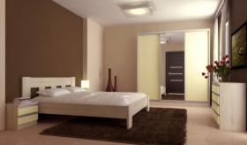Menší fotografie ložnice, postele - Maxim 2