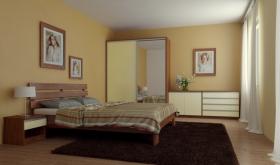 Menší fotografie ložnice, postele - Maxim 5