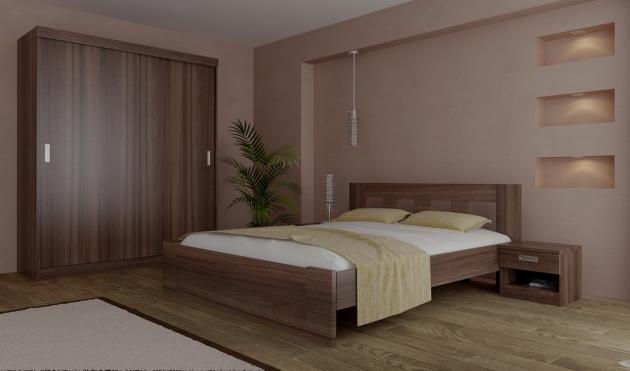 Velká fotografie ložnice, postele - Eden 2