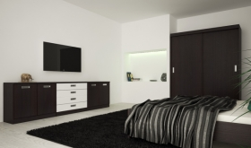Menší fotografie ložnice, postele - Eden 7